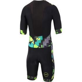 Zone3 Activate+ Kombinezon triathlonowy z krótkim rękawem Mężczyźni, electric sprint